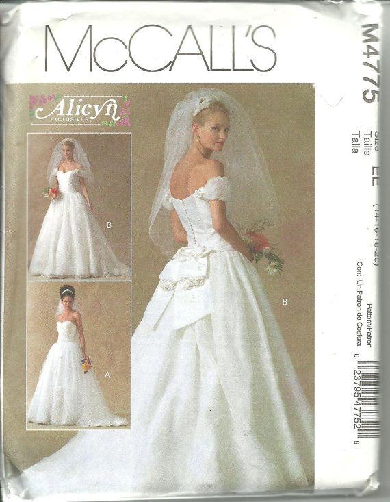 Cute McCalls Alicyn Pattern Strapless Wedding by DreamerLane