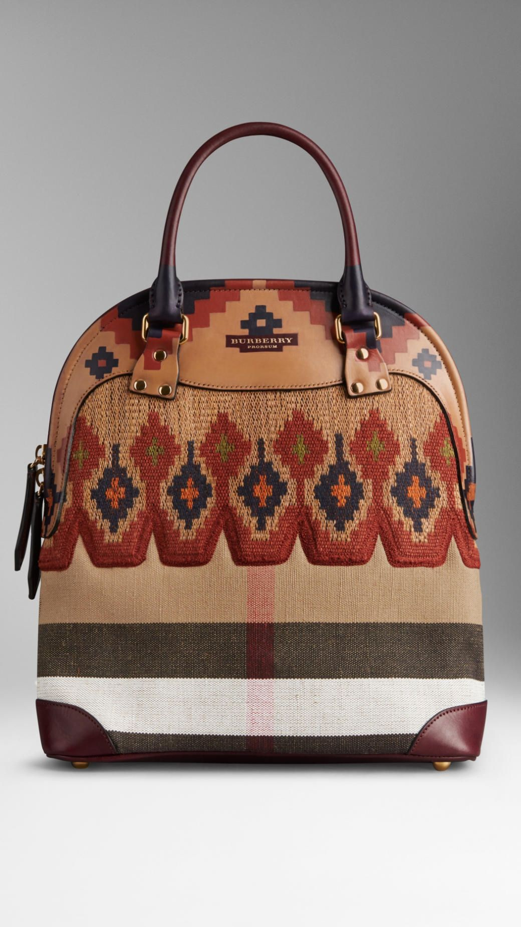 The Medium Bloomsbury in Hand-Painted Canvas Check   Burberry Sacs, Toile  Peinte À 1e31bc651a6