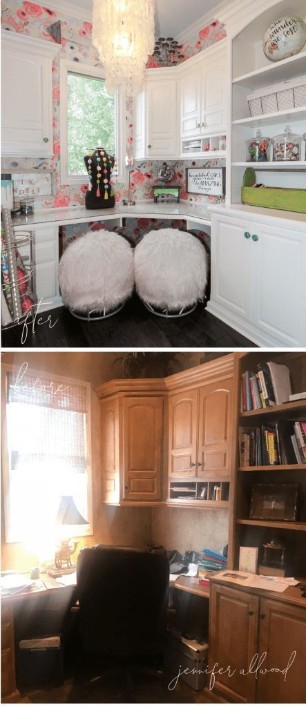 Info's : Craft Room Decorating Ideas by Jennifer Allwood #makeover Before and After Craft Room Ideas | Craft Room Spaces | Craft Room Organization | Girlie Work areas | Gift Wrap Station | Rockin' Roller Desk Chair | Small Craft Room Storage | Craft Room Furniture | Craft Room | Craft Room Design Layout | Craft Room Ideas on a Budget