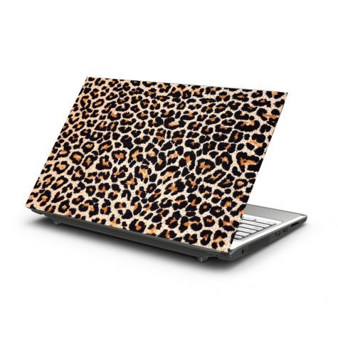 LEOPARD LAPTOP STICKER has tons of attitude (if you can pull it off)