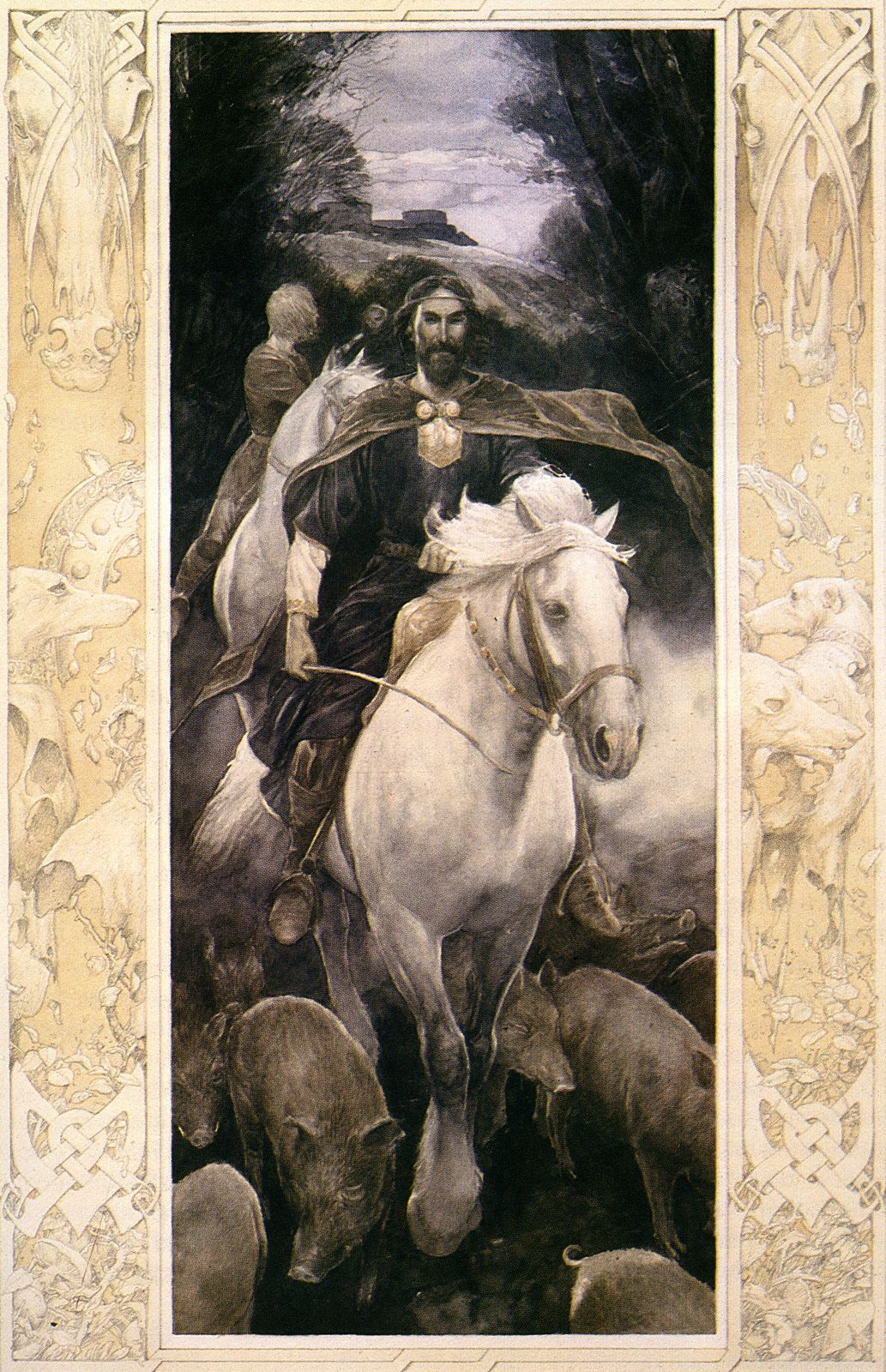 Alan Lee illustration from 'Math, son of Mathonwy', from 'The Mabinogion'