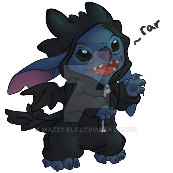 Stitchless Finished By Mazzy Elf Toothless And Stitch Cute