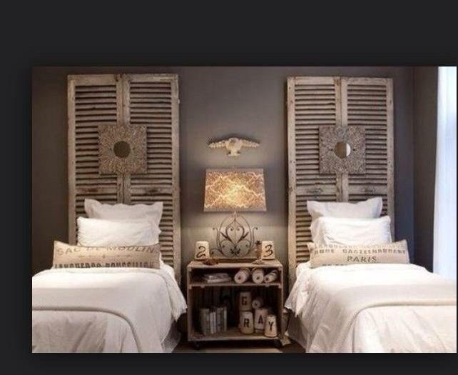 idee louvredeuren als hoofdbord bed zolderkamer pinterest