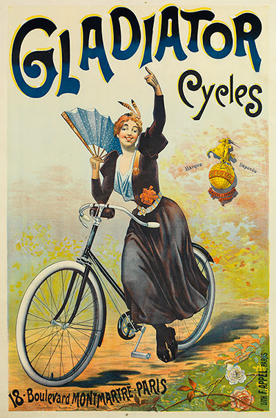 cycles gladiator bicycle poster 0049 6 sizes la reproduction lourdes et anonyme. Black Bedroom Furniture Sets. Home Design Ideas