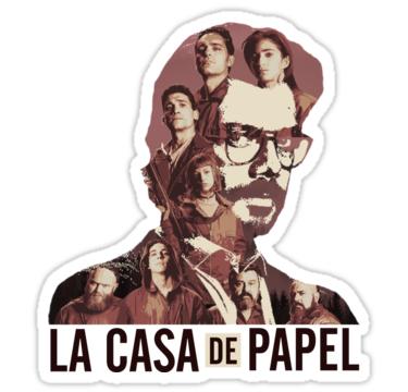 """""""La Casa De Papel Fanart"""" Stickers by FRD-ArtDesign ..."""