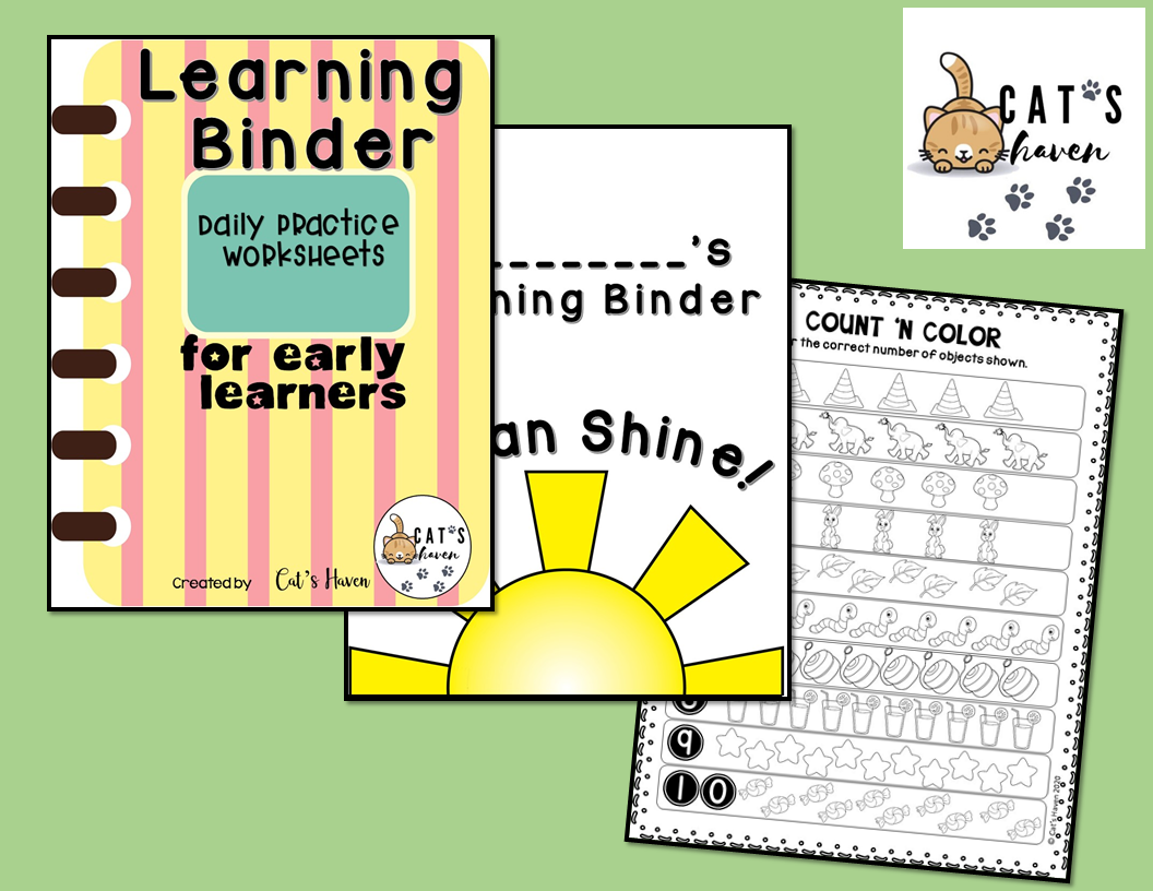 Learning Binder For Early Learners