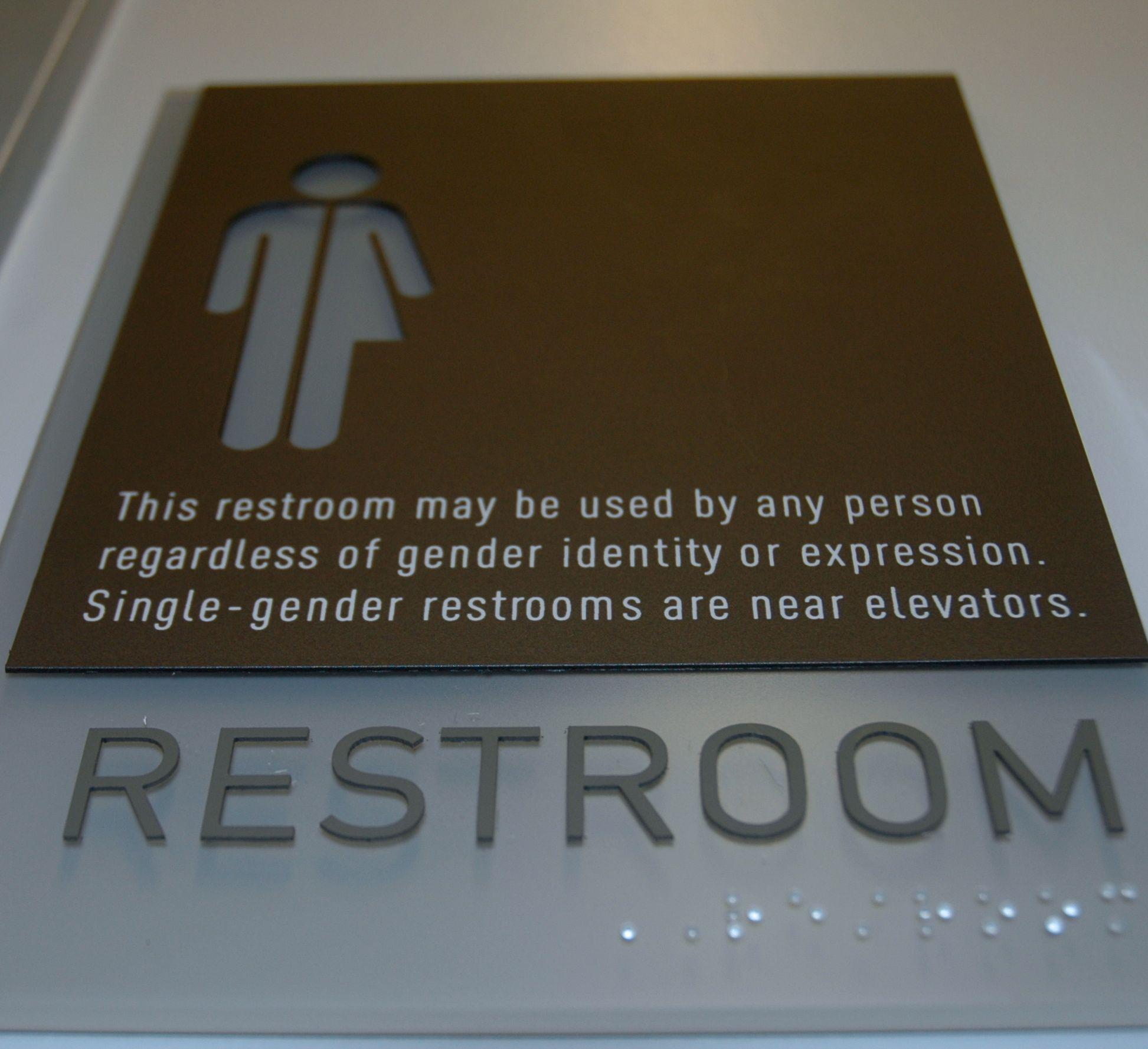 Bathroom Signs Transgender transgender restroom sign - ada compliant | my style | pinterest