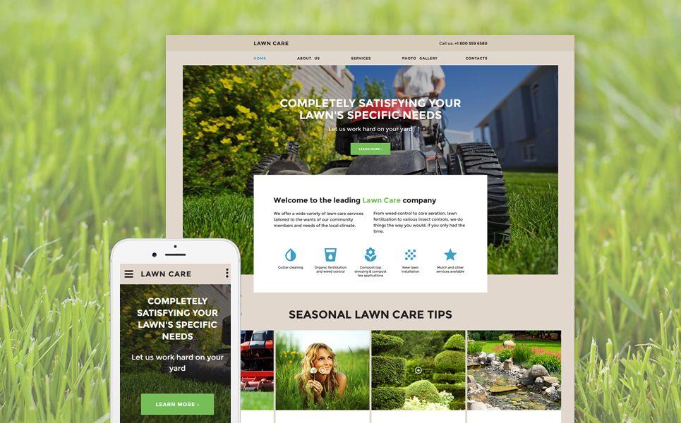 Lawn Care Website Template Design Saves Corporate
