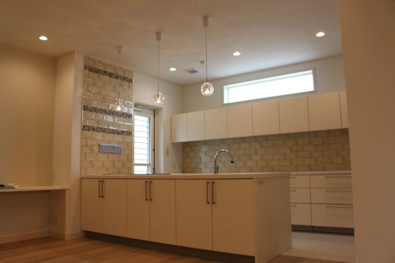 ナイスポイント 高さの低いキッチン背面棚 永大 キッチン キッチン 背面収納 新築 キッチン
