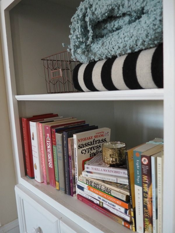 how to decorate deep built in shelves built in bookshelves rh pinterest com deep bookshelves with drawers at the bottom Pallet Shelves