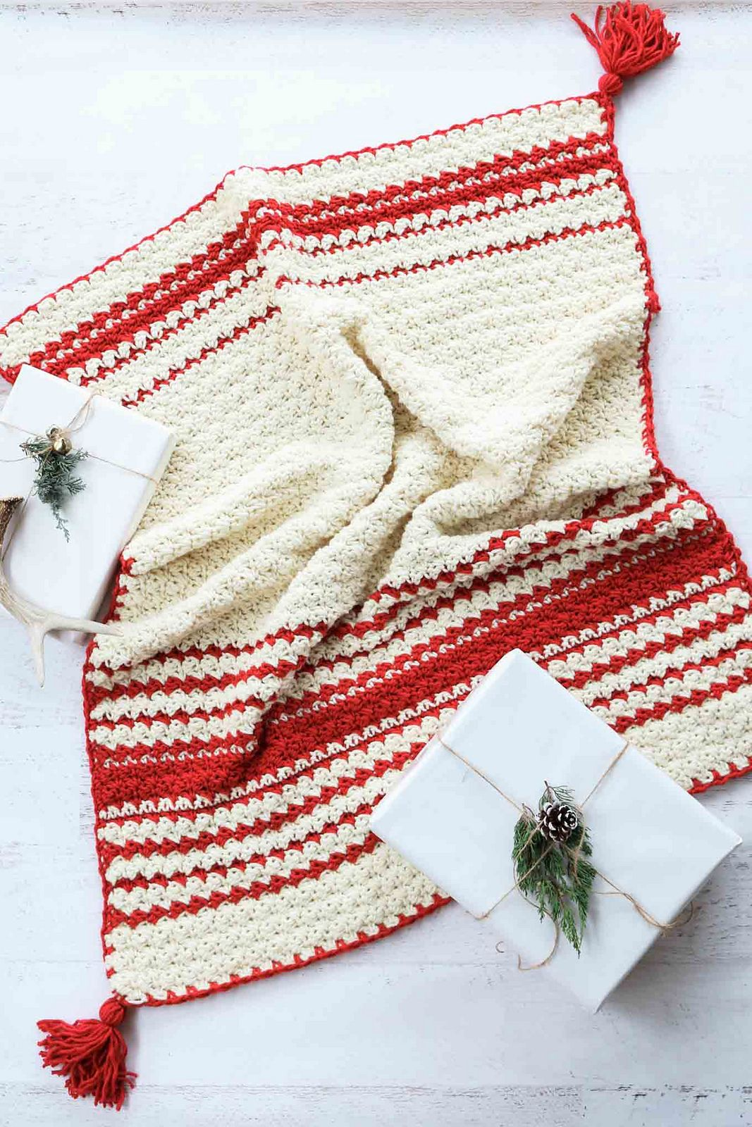 Hygge holiday throw free pattern by jess coppom lapghan or baby hygge holiday throw free pattern by jess coppom lapghan or baby blanket size 37 x 39 easily adjustable 1350 yds lion brand bulky weight yarn bankloansurffo Gallery