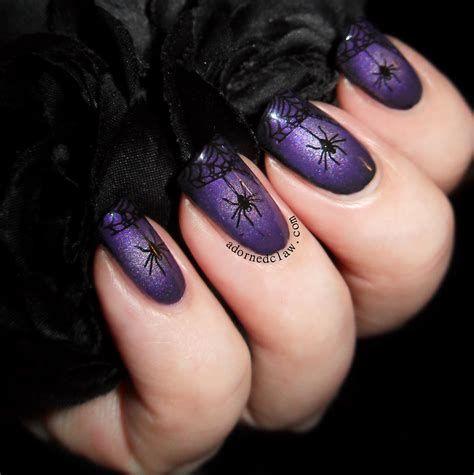 100+ Cute Nail Design Ideas Black Color   Purple nails ...
