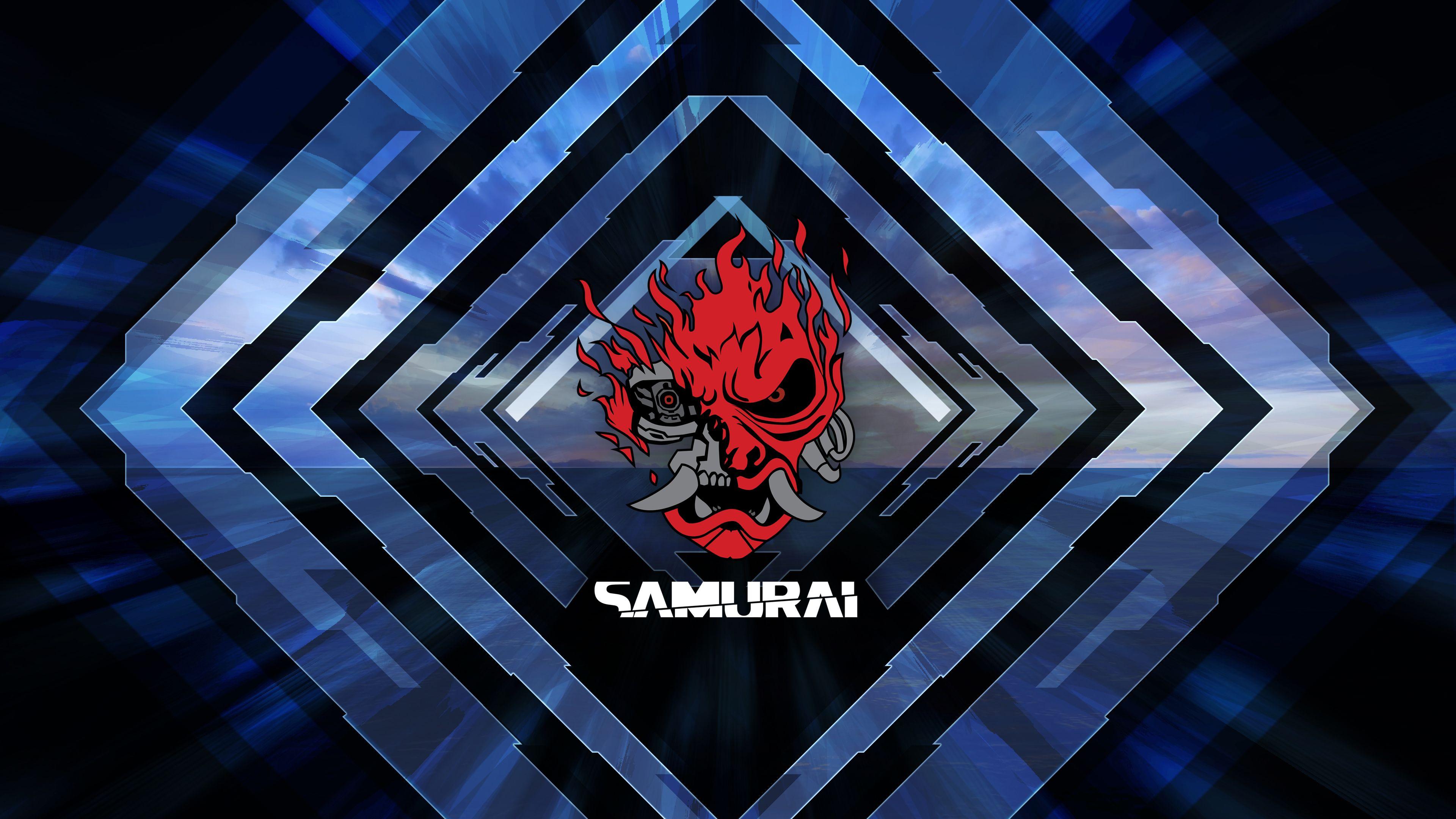 Cyberpunk 2077 Samurai Poster 4k Wallpaper By Valencygraphics Cyberpunk 2077 Cyberpunk Samurai