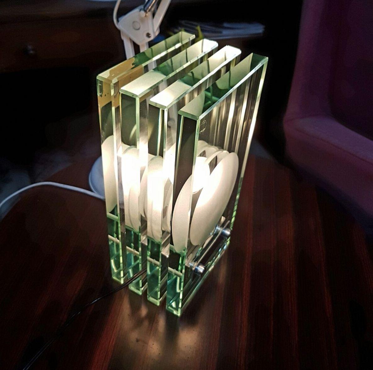 Lampada lamp da tavolo,Max Ingrand per Fontana Arte, Italia verso il 1960,