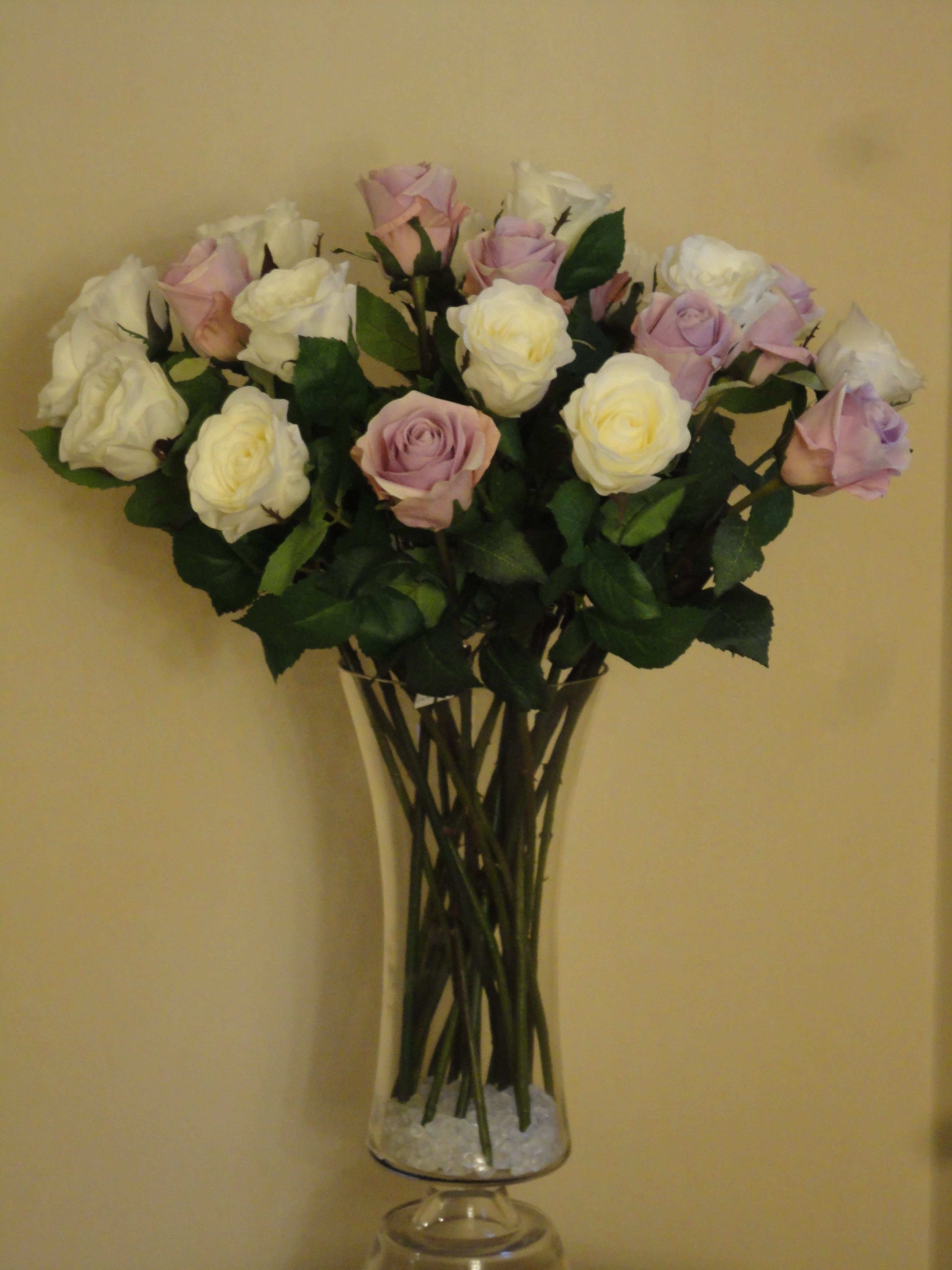 Sia Artificial White Lilac Roses Look Lovely Together Www