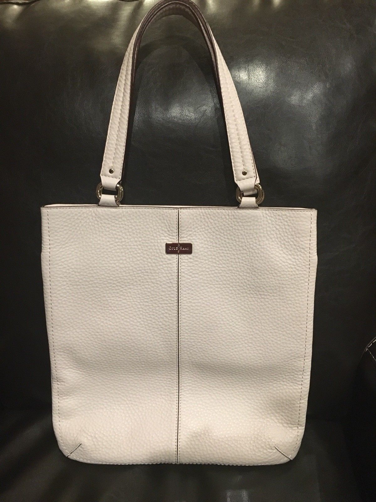 d0b95f441d COLE HAAN Village Light Pink Pebble Leather Women's Flat Tote Bag PRISTINE  COND.