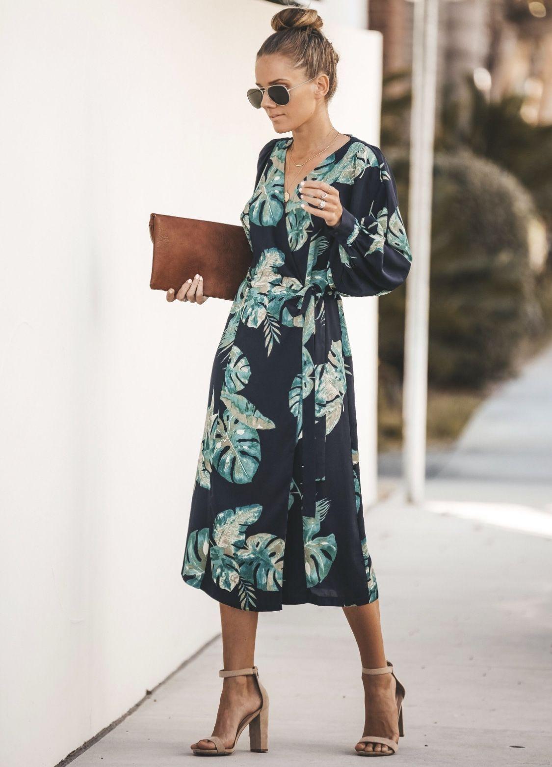 7ef3b287eb987 Gorgeous Vici Dolls Desert Palm wrap dress