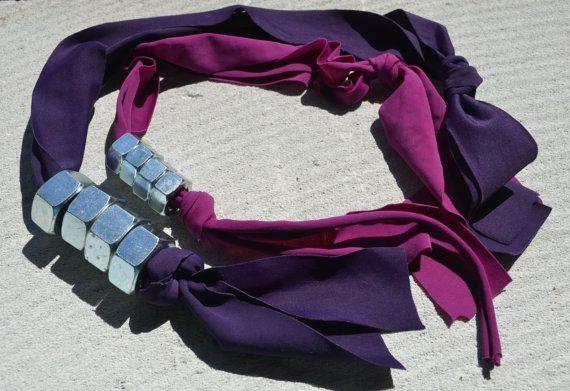 Collana con dadi in acciaio di lamarielamarci su Etsy