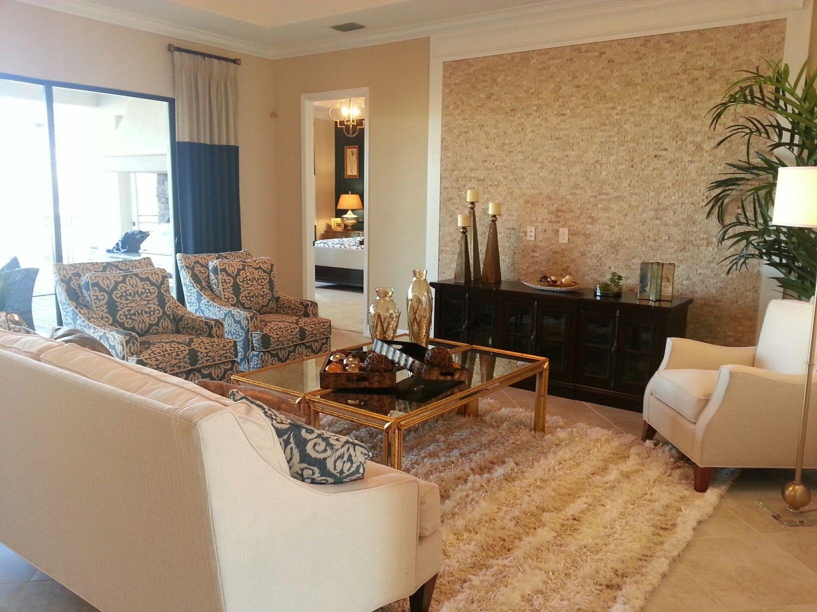 Lennar Princeton Model At Bonita National Springs FL Interior Design By Janet Graham Neutral Living RoomsFamily RoomDesign