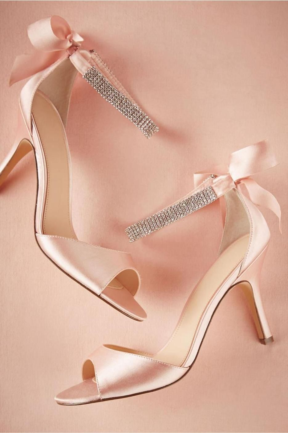 67 Most Beautiful Blush Pink Wedding Shoes Bridal Sandals Bow