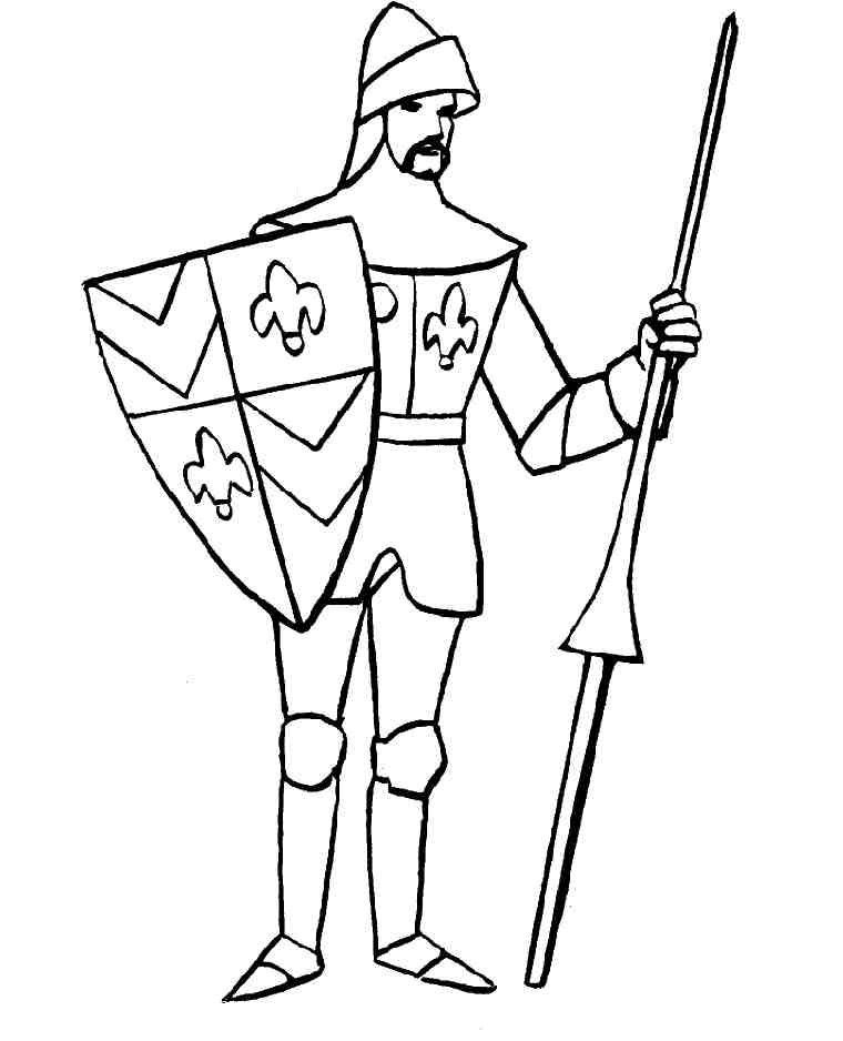 coloring page Knights Knights Church Pinterest
