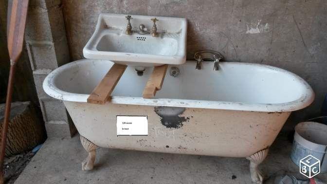Baignoire Ancienne En Fonte Émaillée | Furniture | Pinterest