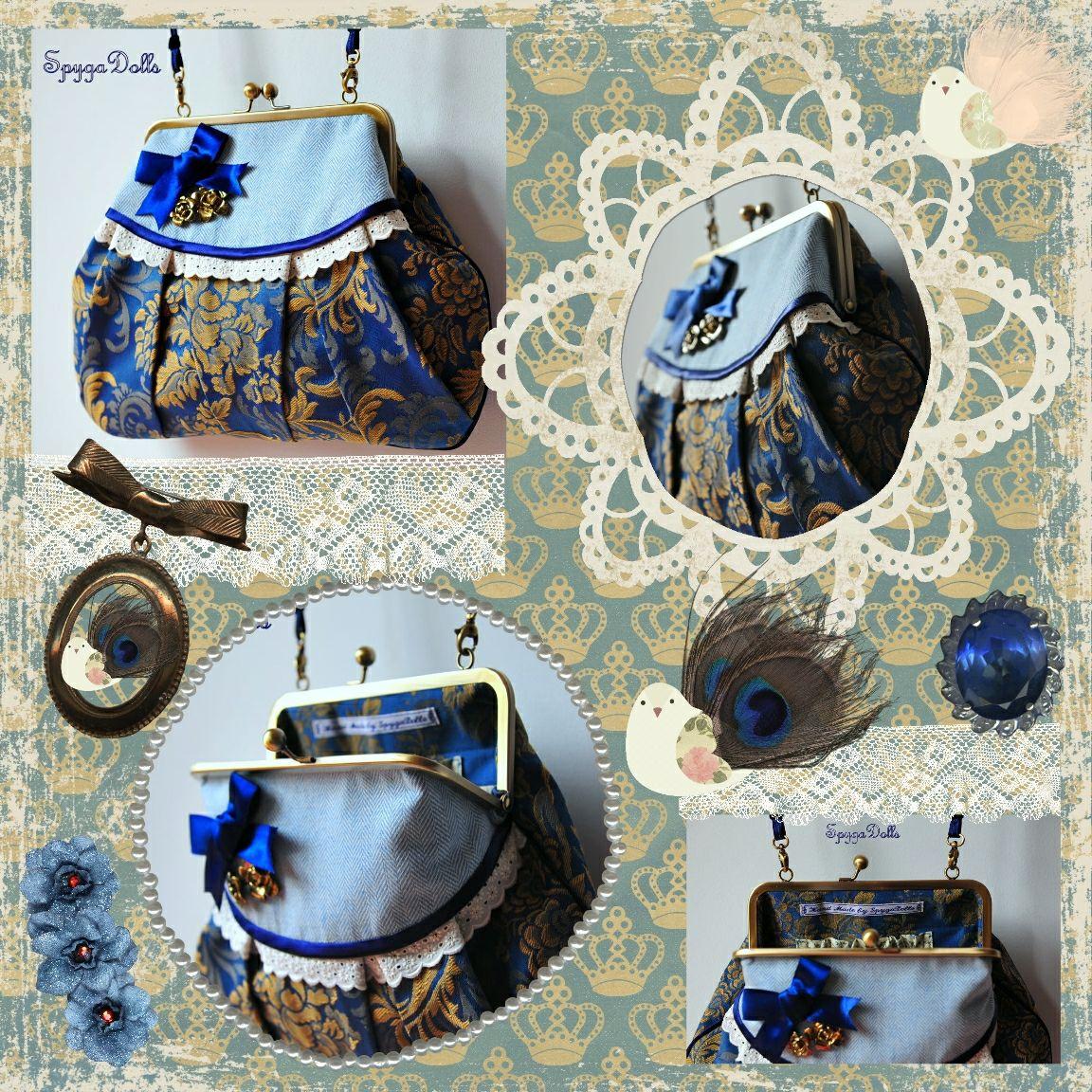 "La Tienda de SpygaDolls: Bolso Modelo ""Barroco Royal Blue"""