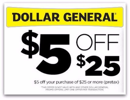 photo about Printable Dollar General Coupons named greenback over-all 5 off of 25 printable coupon 4/23-16 most recent