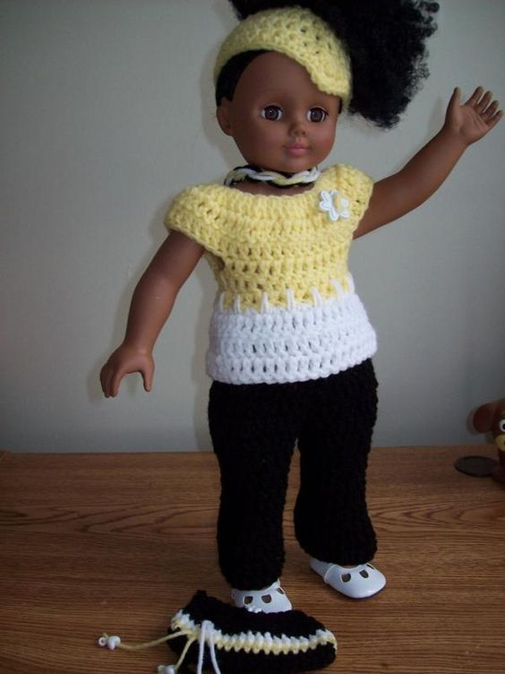 Free American Doll Crochet Pattern Pinned From Original Source By