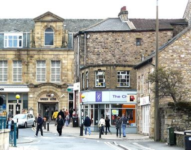 The charity shop where I bought my pretty pink cardigan, Lancaster, Lancashire, UK