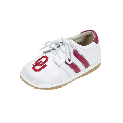 231157688 Oklahoma Sooners Boys Toddler Team Squeak Shoe
