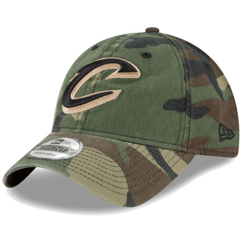 release date: 03051 c94b4 Cleveland Cavaliers New Era Core Classic 9TWENTY Adjustable Hat – Camo
