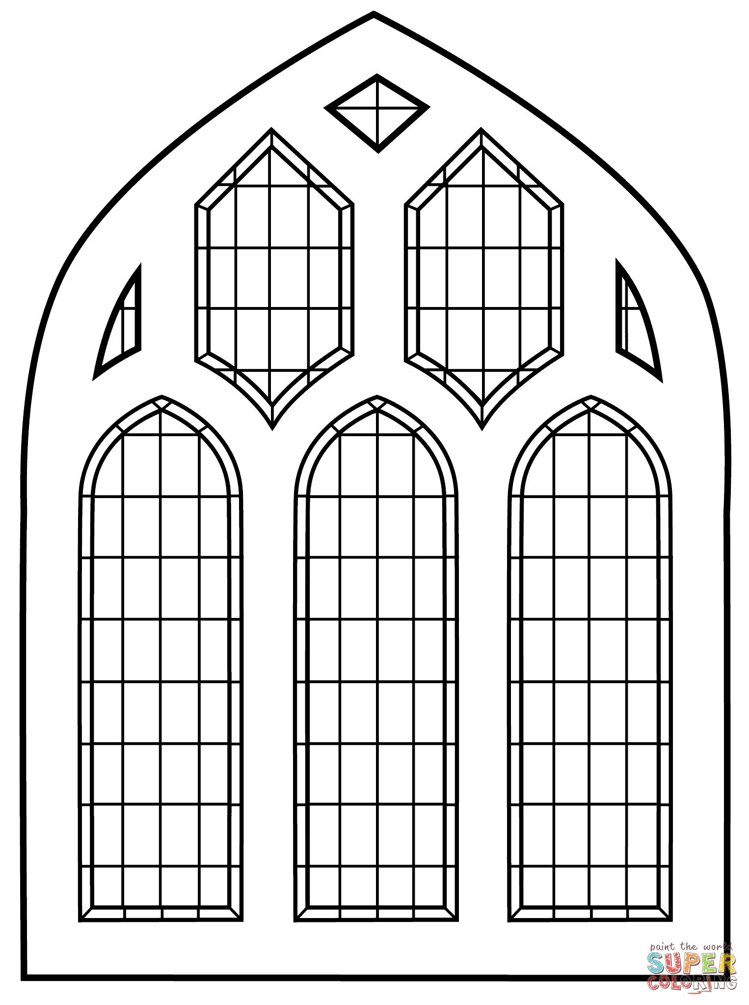 Ausmalbild Buntglas  Fenster   Ausmalbilder Kostenlos Zum ...