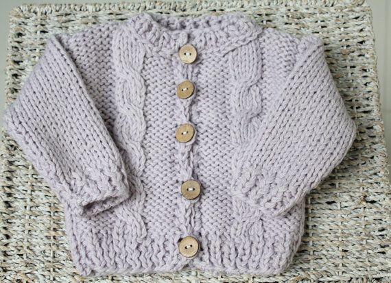 NEWBORN Baby Girls Sweater Lavender baby by BoutiqueDeMarcipan, €30.00