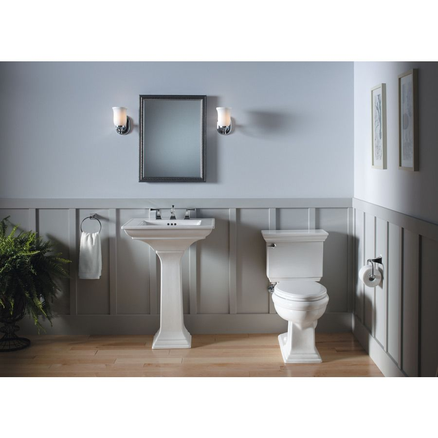 Shop KOHLER Memoirs 27.38-in H White Fireclay Pedestal Sink Base at ...