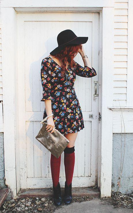 Boho beauty #hat #floral #socks