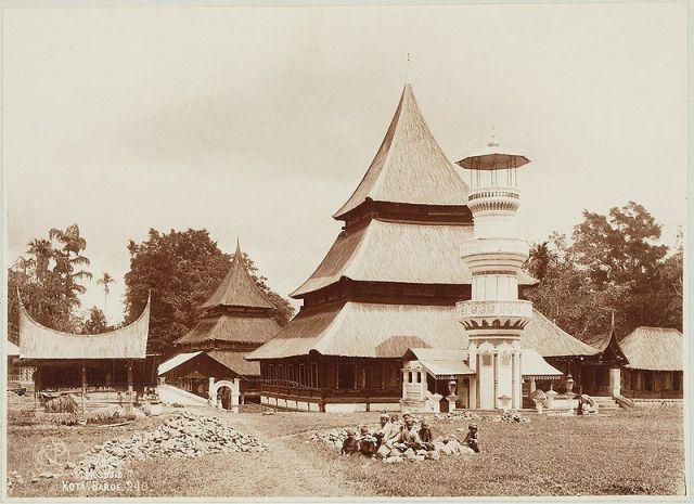 Minangkabau Mosque Indonesia Minangkabau Indonesia Arsitektur Vernakular