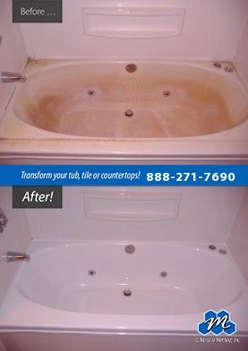 Don T Replace Refinish Acrylic Bathtub Refinishing Can Improve The Appearance Of Dull Damaged Or Color Date Refinish Bathtub Acrylic Bathtub Acrylic Tub