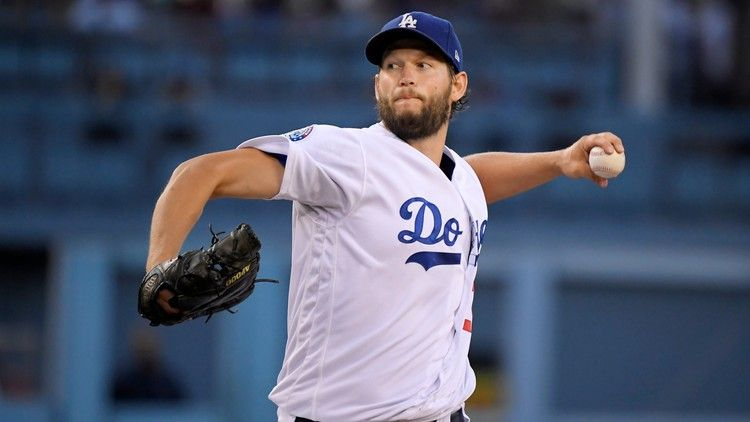 Clayton Kershaw Faces Big Challenge As Dodgers Blow Lead In Ninth Espn Dodgers Baseball Playoffs Let S Go Dodgers