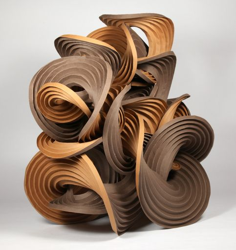 "[0264] Part of ""Earthtone Series"". Mi-Teintes watercolor paper, 18"" × 12"" × 19"" high (2012):"