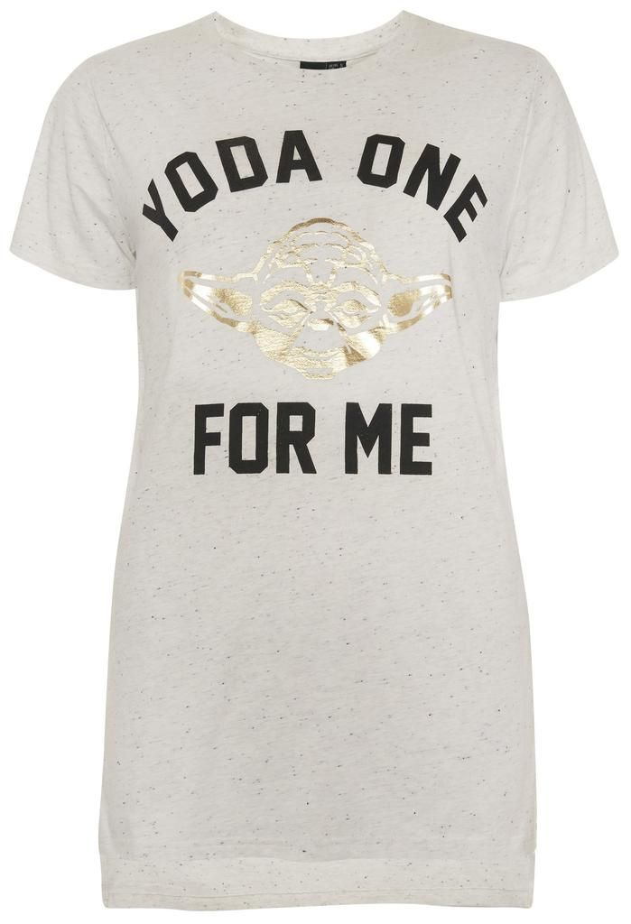a3e116af Primark Star Wars T Shirt 'Yoda one for me' Womens Ladies UK 6-20 NEW -  Click. Buy. Love. - 1