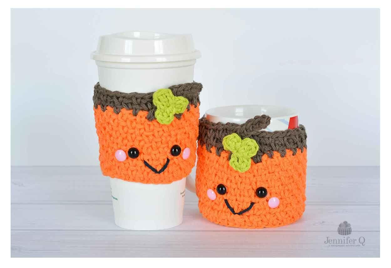 Halloween Pumpkin Cozies - free crochet pattern at Jennifer Q ...