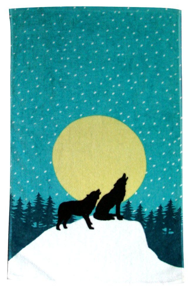 Wolf Hand Towel Hand Towels Towel Wolf