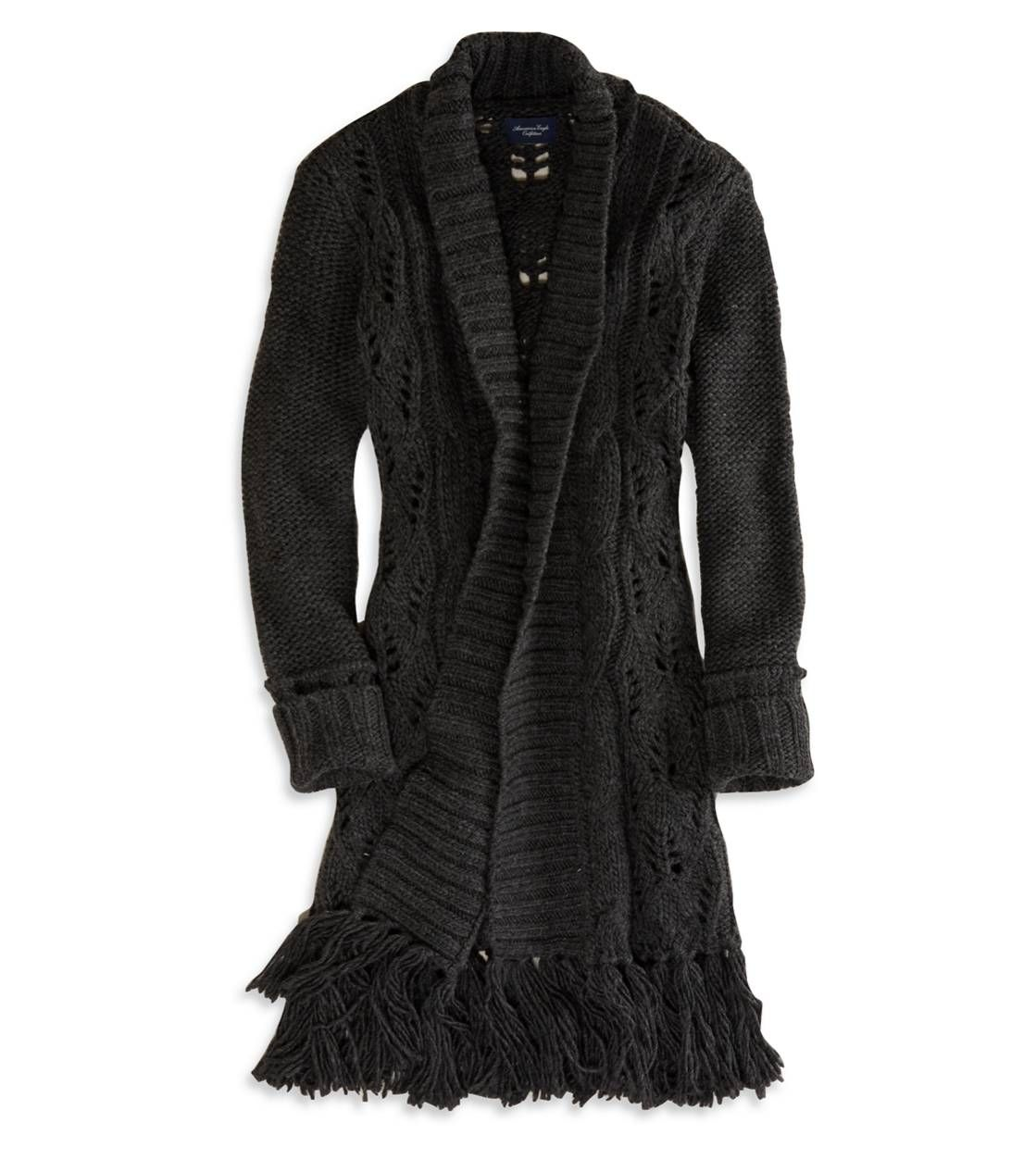 AE Open Fringe Sweater Coat omg have get this!!!!! | Fashion ...
