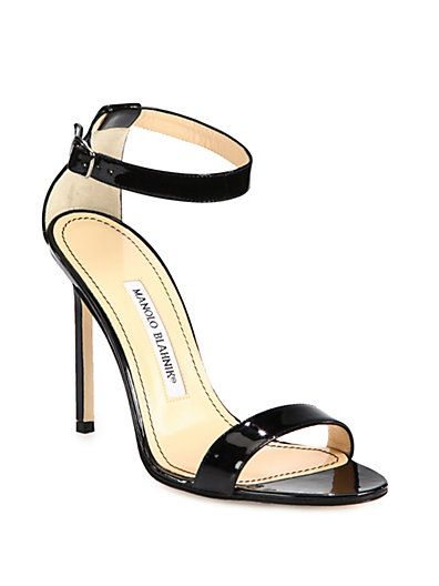 newest sale online Manolo Blahnik Embellished Patent Leather Sandals discount online outlet pay with paypal discount geniue stockist uiThz3