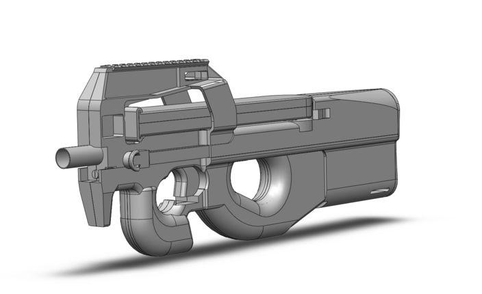 Fn p-90 - SolidWorks, Other - 3D CAD model - GrabCAD