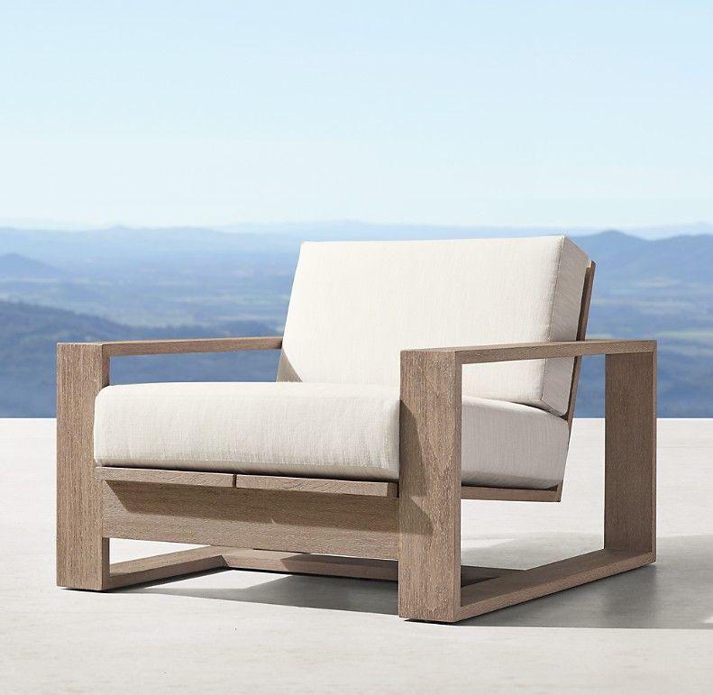 Porto Teak Lounge Chair Cushions In 2020 Teak Lounge Chair Lounge Chair Cushions Furniture