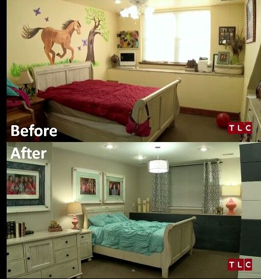 Duggar family blog Girls room before and after