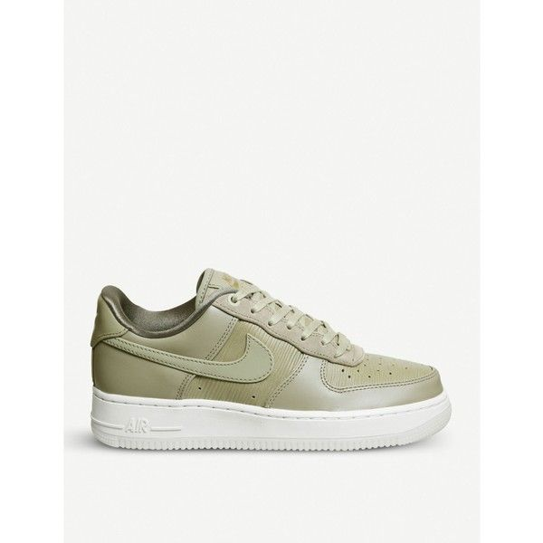 finest selection 7f40d 17e87 NIKE Air Force 1  07 leather and suede trainers ( 115) ❤ liked on Polyvore  featuring shoes, sneakers, lace up sneakers, leather sneakers, nike trainers,  ...