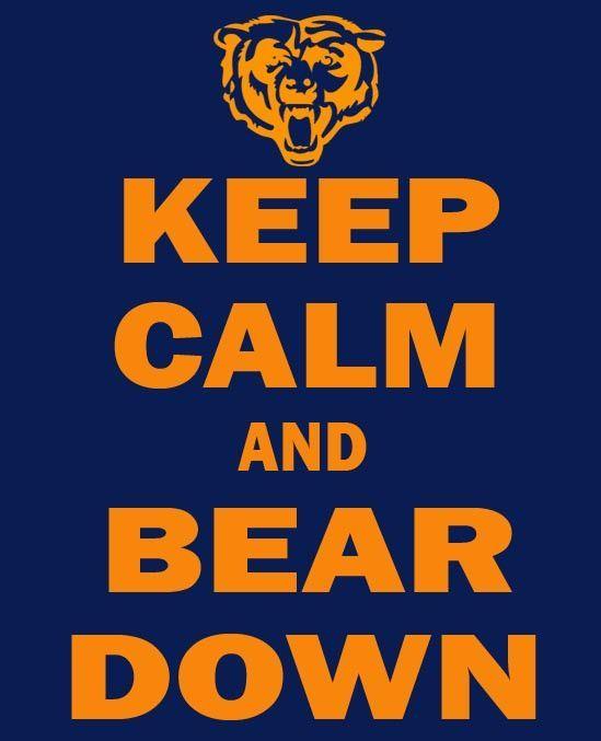 Keep Calm And Bear Down T Shirt Chicago Bears Wallpaper Chicago Bears Football New Orleans Saints Logo